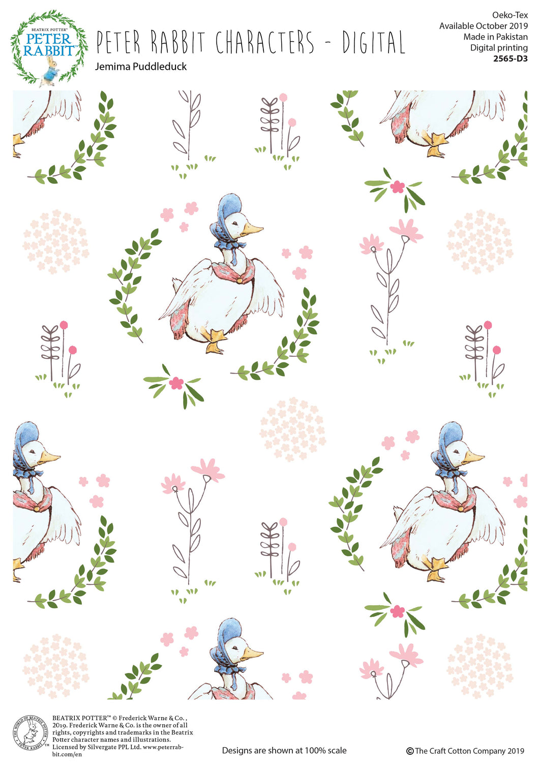 Peter Rabbit Fabric Collection - Jemima Puddleduck