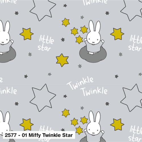 Miffy Cotton Fabric - Twinkle Star