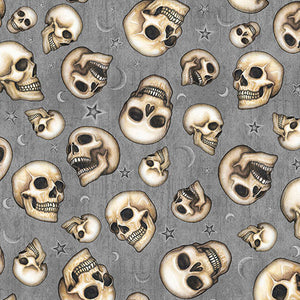 Spellbound Fabric Collection - Skulls Cotton Print