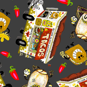 Hot Tamale Fabric Collection - Tossed Food