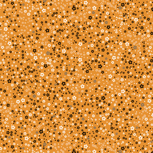 Whisper - Confetti Floral on Gold - per 1/4 metre