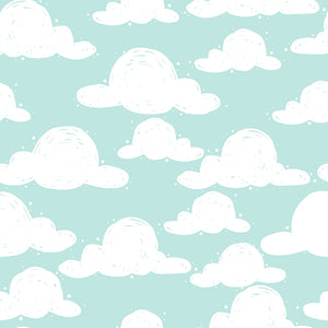 Goodnight Cotton Print - Clouds