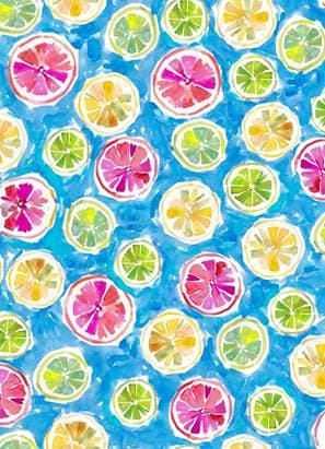 Wild and Fruity - Fruit Slices on Blue - Cotton Print Fabric - per half metre
