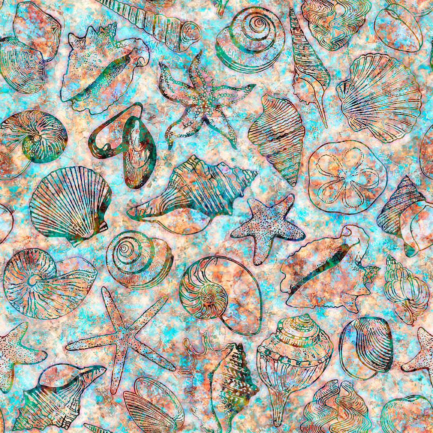 Oceana Fabric Collection - Seashells