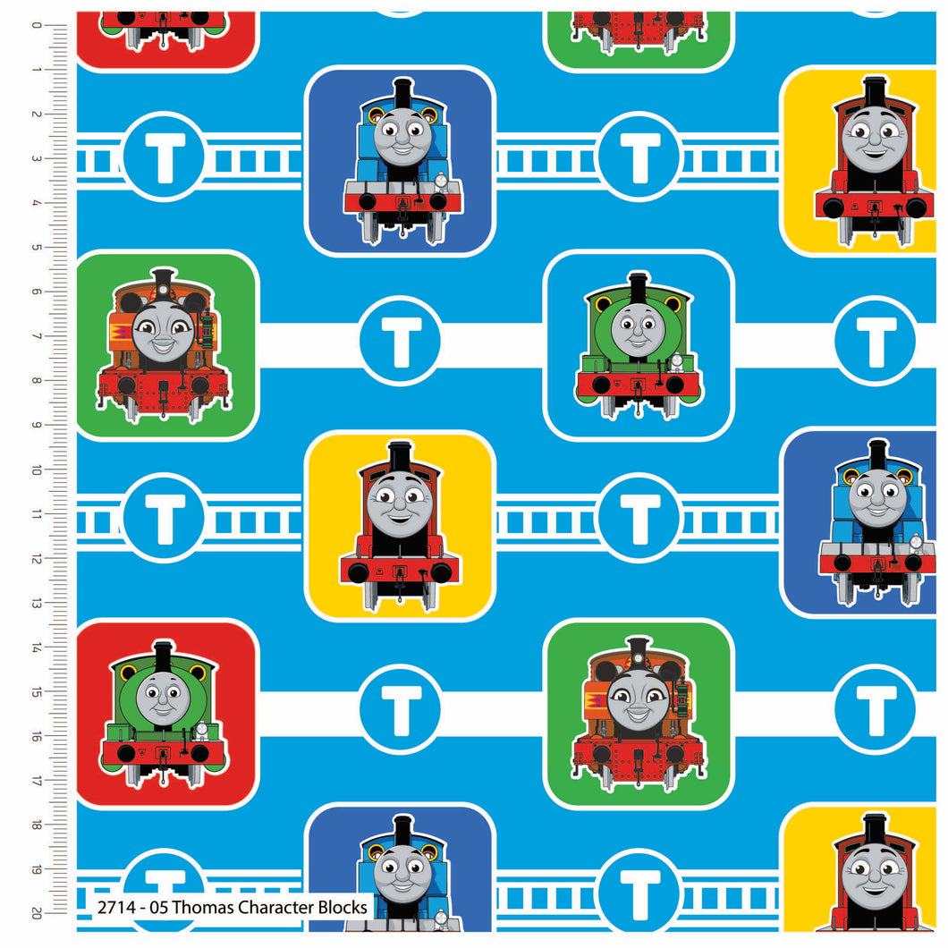 Thomas and Friends Classic Cotton Print - Thomas Character Blocks