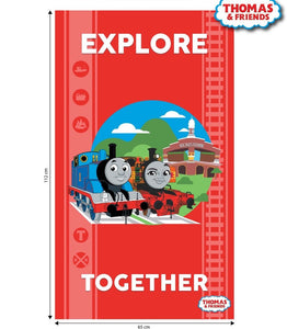 Thomas and Friends Classic Cotton Print - Explore Together Panel