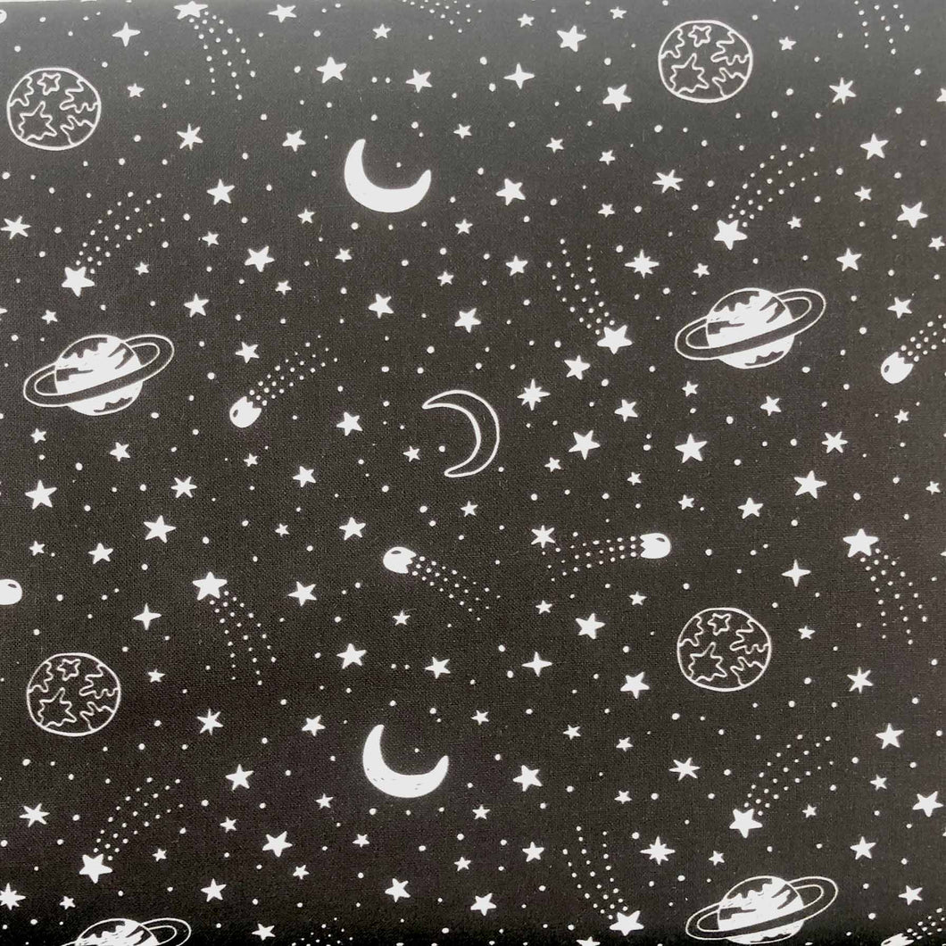 Outer Space Cotton Print - Shooting Star