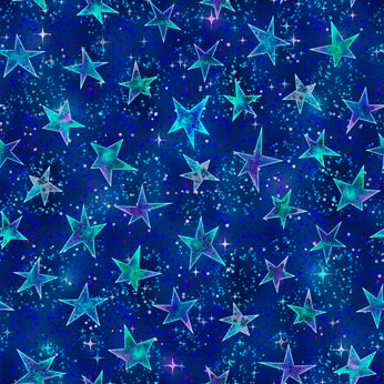 Mystical Fabric Collection - Stars on Navy
