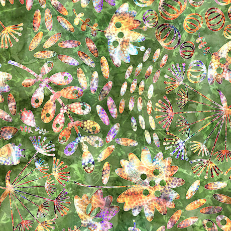 Botanica Cotton Print - Mixed Botanical on Pine
