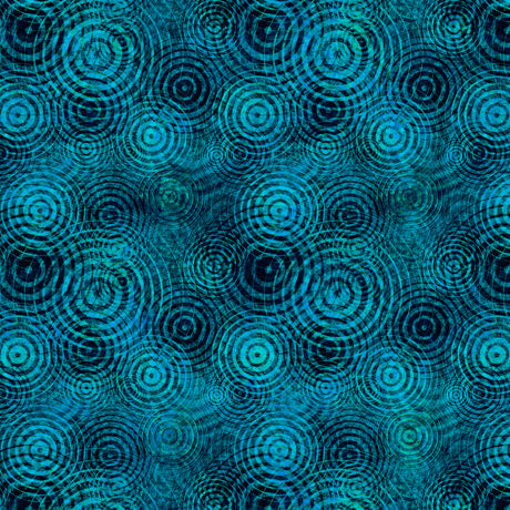 Good Vibrations Fabric Collection - Soundwaves on Teal