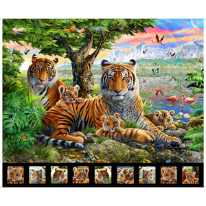 Artworks XIV - Tiger Fabric Panel