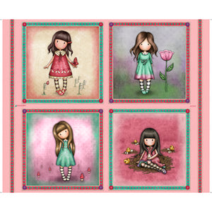 Truly Gorjuss Cotton Print - Large Picture Patches Panel