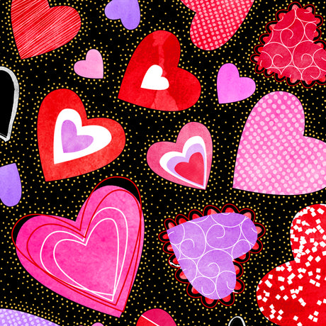 Sweethearts Cotton Print - Large Hearts