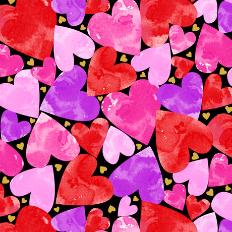 Sweethearts Cotton Print - Packed Hearts