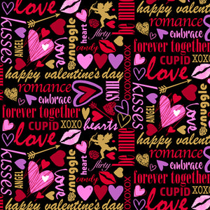 Sweethearts Cotton Print - Valentine Lingo