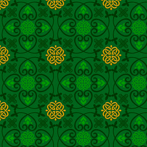 Irish Charm Cotton Print - Celtic Medallions