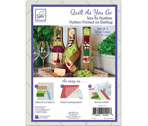 Quilt As You Go - Wine Totes