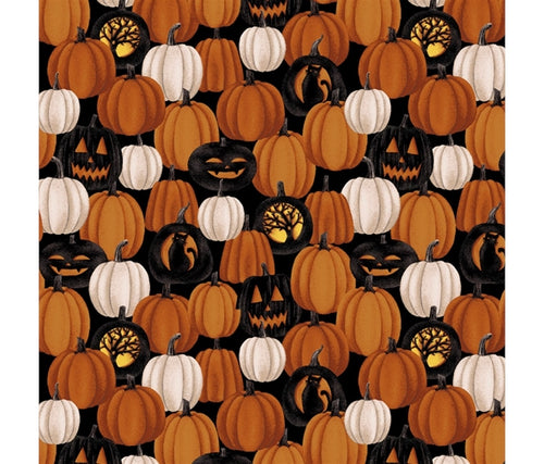 Harvest Moon Cotton Print - Small Pumpkins