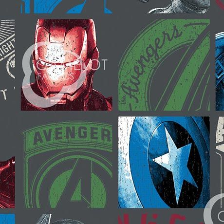 Marvel Avengers Collection - Hero Block on Charcoal
