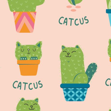 Very Punny Fabric Collection - Catcus