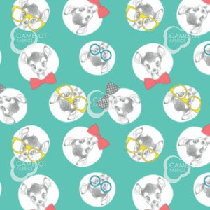 Disney's Dress To Impress Fabric Collection - Bambi on Turquoise