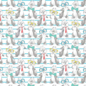Disney's Dress To Impress Fabric Collection - Chip and Dale on White