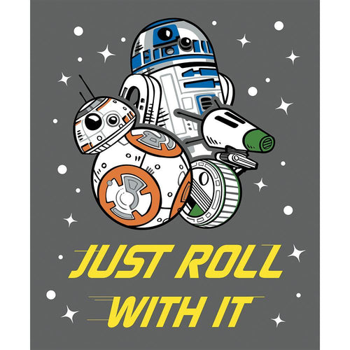 Star Wars Cotton Fabric - Just Roll with It Panel