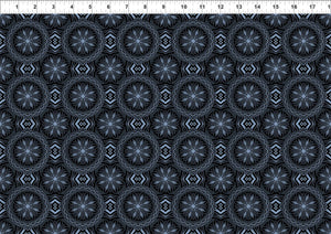 Blue Dragons Fabric Collection - Geometric Medallions
