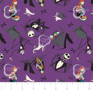 Nightmare Before Christmas, Jack is Back Fabric Collection - Jack and Sally
