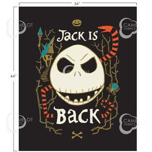 Nightmare Before Christmas,  Jack is Back - Fabric Panel