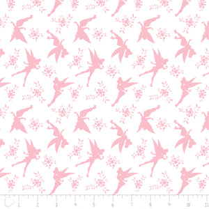 Tinkerbell Cotton Print - Tinkerbell Silhouette - per 1/4m