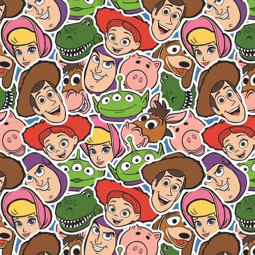 Disney Toy Story - Character Collage - 100% cotton fabric