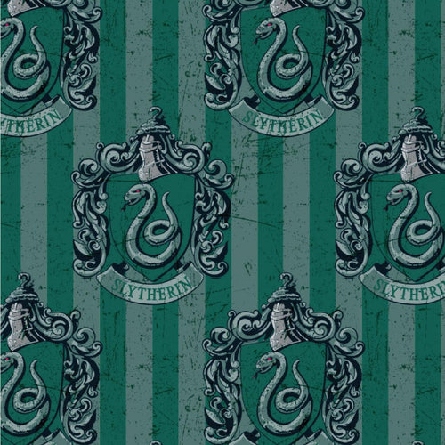 Harry Potter Cotton Fabric - Slytherin House