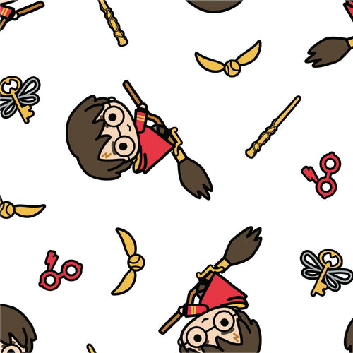 Harry Potter Cotton Fabric Collection - Kawaii Broomstick