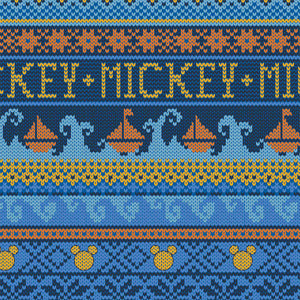 Mickey Mouse Oh Boy Fabric Collection - Sweater in Blue