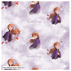 Frozen 2 Fabric Collection - Anna Watercolour