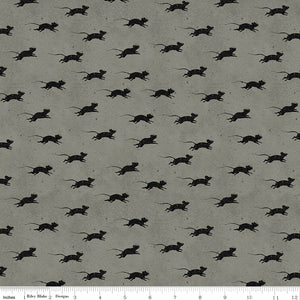 Goose Tales Cotton Print - Grey Blind Mice