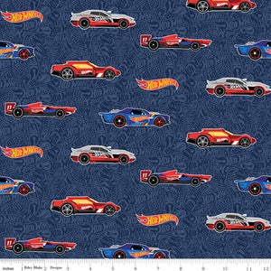 Mattel Hot Wheels Cotton Print - Navy Hot Wheels Main