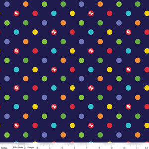Fisher-Price Cotton Print - Navy Fisher-Price Dots