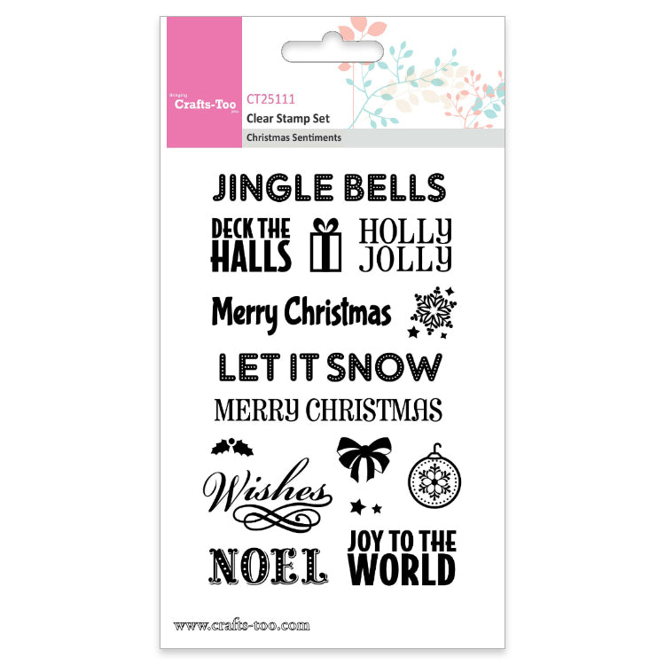 CT Clear Stamp Set - Christmas Sentiments.