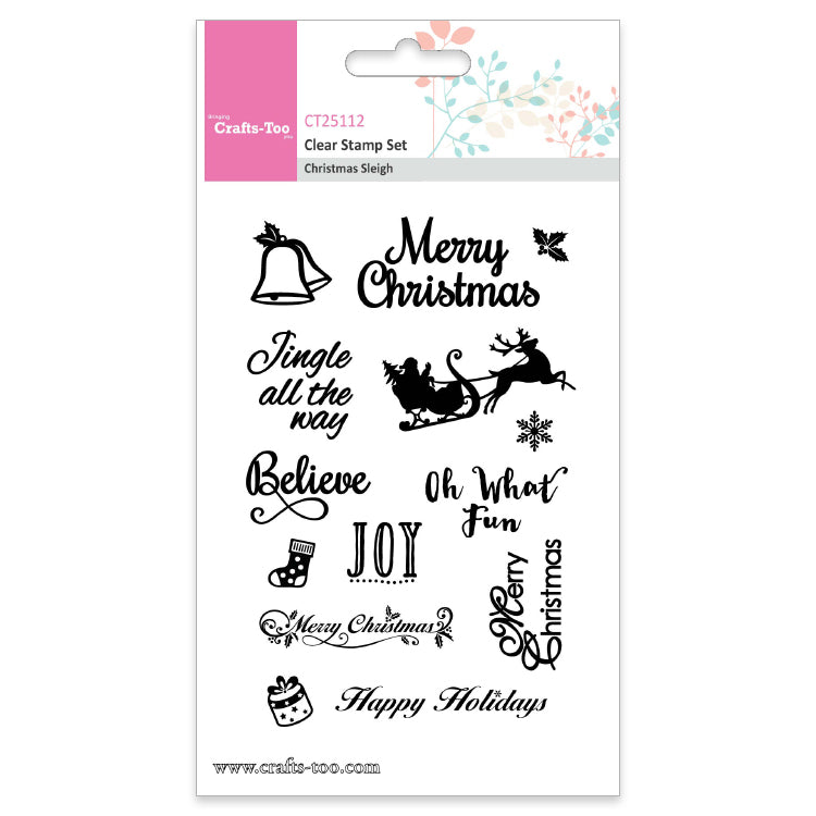 CT Clear Stamp Set - Christmas Sleigh