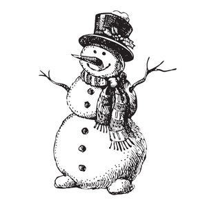Two Jays Clear Stamp - Cheery Snowman