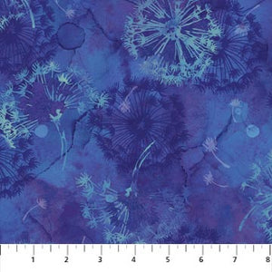 Make A Wish Fabric Collection - Dandelions on Blue