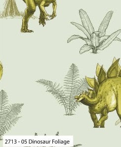 Age of the Dinosaurs Cotton Print - Dinosaur Foliage