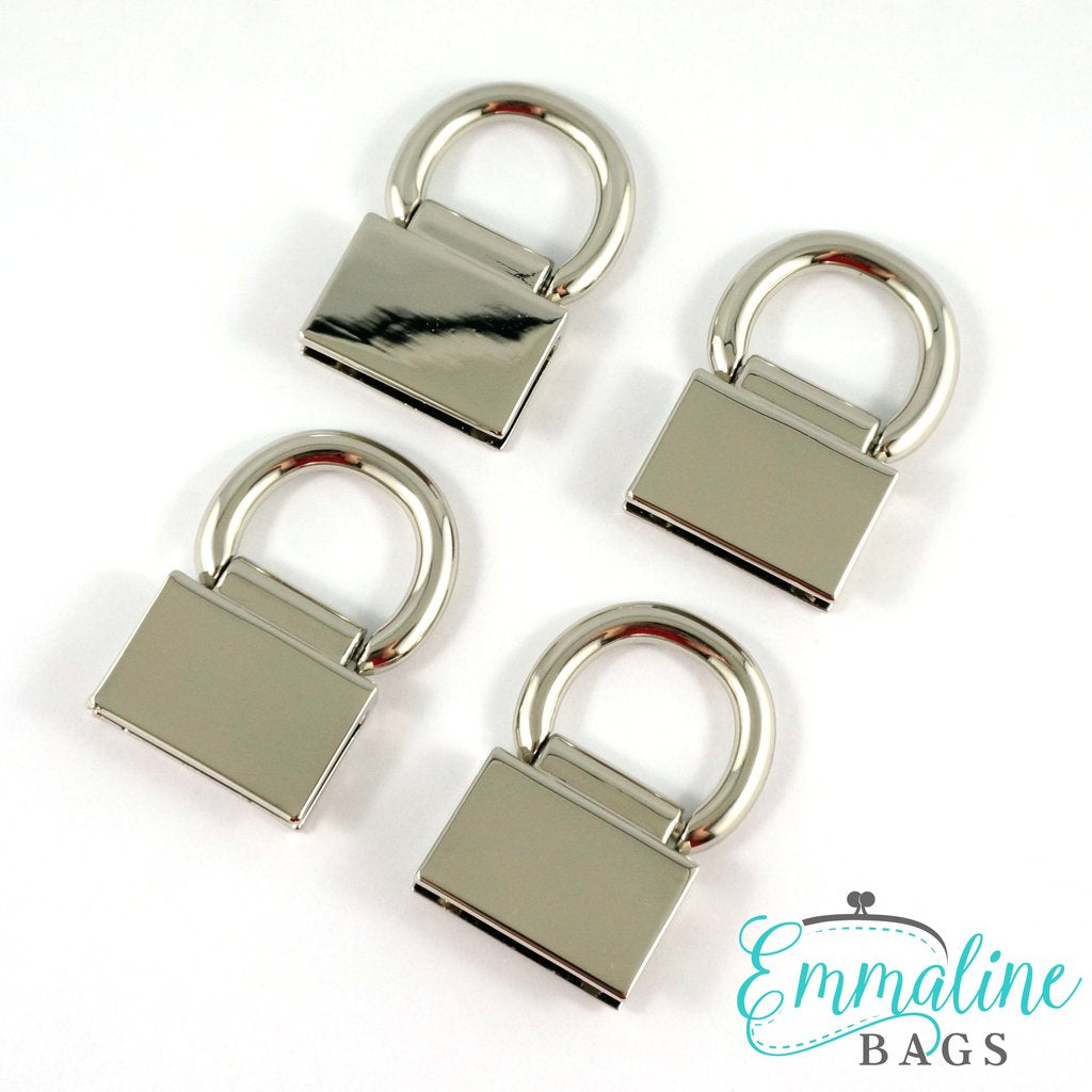 Strap Anchor: Edge Connector (4pk) - Nickel