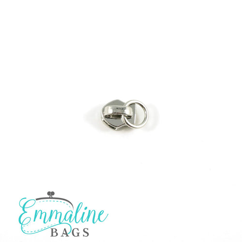 Zipper Sliders with Pulls - Size #3 - Slider with Attachment Ring/ Silver