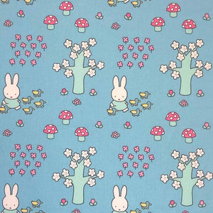 Miffy Cotton Fabric - In the Park - per half metre
