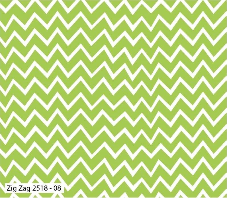 Hot Air Balloon Cotton Print - Zig Zag - per half metre