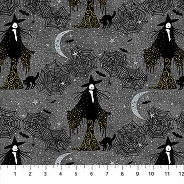 Elegantly Frightful - Witches - per 1/4 metre