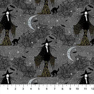 Elegantly Frightful Fabric Collection - Witches